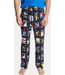 nautica men's cotton flag-print pajama pants