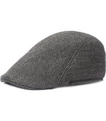 uomo retro berretto invernale regolabile in cotone a pied de poule con visiera berretto newsboy gorras