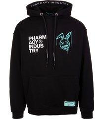 pharmacy industry man black xanny logo hoodie