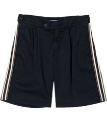 brunello cucinelli blue stretch cotton shorts