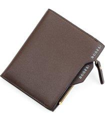 billetera monedero hombre pequeña - color marrón