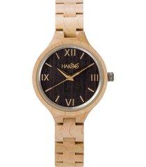 reloj madera hakoo origen 604