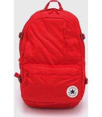 mochila roja converse straight edge