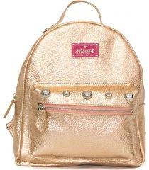 mochila de cuero rosa merope jana