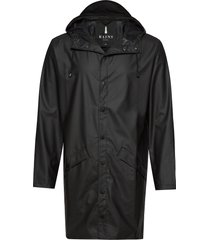 long jacket regenkleding zwart rains