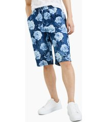 inc international concepts men's denim floral shorts, created for macy's