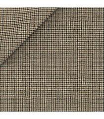 abito da uomo su misura, vitale barberis canonico, lana seta lino marrone pied de poule, primavera estate | lanieri