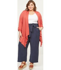 lane bryant women's soft ankle pant with belt 28p night sky