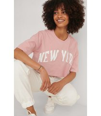 trendyol tryckt t-shirt - pink
