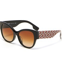 monogram print acetate oversized butterfly sunglasses