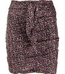 ba & sh dina ruched mini skirt - black