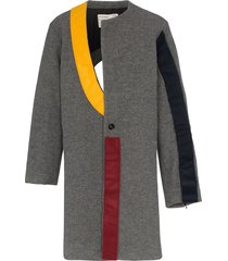 a-cold-wall* contrast panel coat - grey