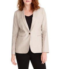 women's j.crew parke stretch linen blend blazer, size 10 - beige