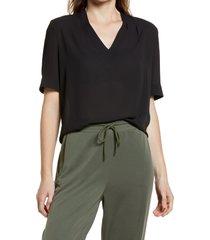 women's nydj charming top, size xx-small - black