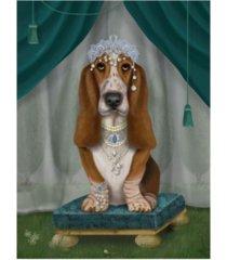 "fab funky basset hound and tiara canvas art - 15.5"" x 21"""