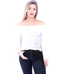 blusa up side wear babado branca