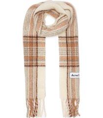 tartan check fringe scarf