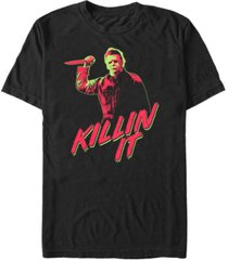 fifth sun halloween 2 men's michael myers retro killin it slasher portrait short sleeve t-shirt