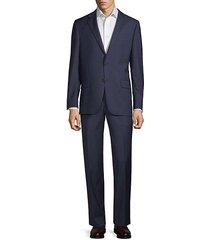 classic fit stripe wool suit