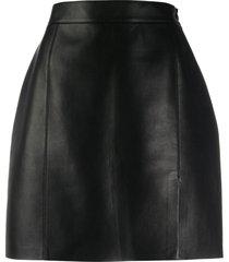nanushka gima vegan leather mini skirt - black