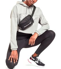 riñonera negra rebook essentials zip 1l