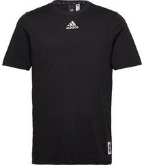 sportswear loose fit t-shirt t-shirts short-sleeved svart adidas performance