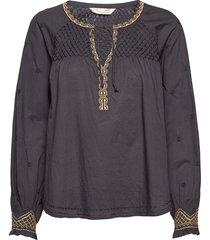 jill blouse blouse lange mouwen grijs odd molly