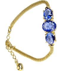 pulseira kumbayá joias italiana azul