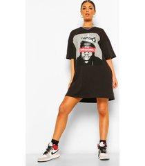 gelicenseerd notorious big t-shirtjurk, black