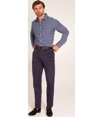pantalon con bolsillos laterales azul oscuro 40