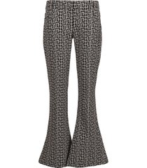 balmain low-rise monogram gdp bootcut pants