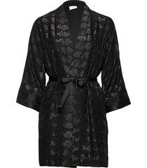 viabies 3/4 cover up kimonos svart vila