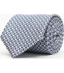 krawat makrowzór niebieski 104