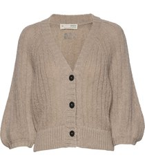 nordic love knitted cardigan stickad tröja cardigan beige odd molly