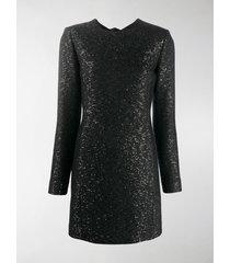 saint laurent sequin-embellished mini shift dress