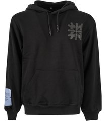 mcq alexander mcqueen rear print logo patched hoodie