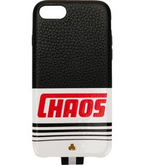 chaos reflective logo iphone 7/8 case - black