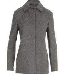 harris wharf london women button up jacket superfine merino