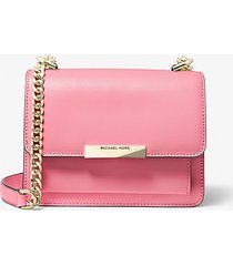 mk borsa a tracolla jade extra small in pelle - shell pink - michael kors
