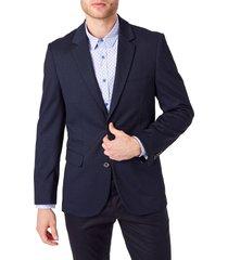 men's 7 diamonds stuart solid stretch sport coat, size xx-large - blue