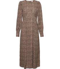 pzanja dress knälång klänning brun pulz jeans