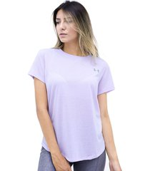 camiseta morado under armour streaker 2.0 short sleeve