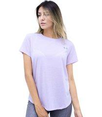 camiseta morado under armour streaker 2.0 short sleeve