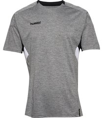 tech move jersey s/s t-shirts football shirts grå hummel