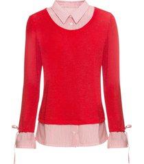 maglia 2 in 1 (rosso) - bodyflirt