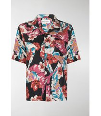 saint laurent all-over floral-print shirt