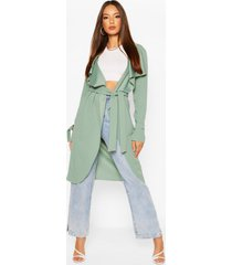 waterfall belted jacket, sage