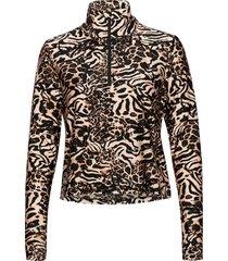 fusion metallic cropped sweater sweat-shirt trui beige casall