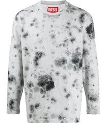 a-cold-wall* x diesel red tag tie-dye sweatshirt - grey