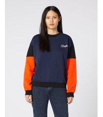 sweater wrangler sweatshirt femme high rib retro